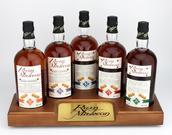 Malecon Rum Set 12, 15, 18, 21 und 25 Jahre inkl.Barständer