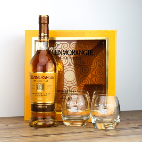Glenmorangie Original 10 Jahre 40% 0,7L + 2 Gläser