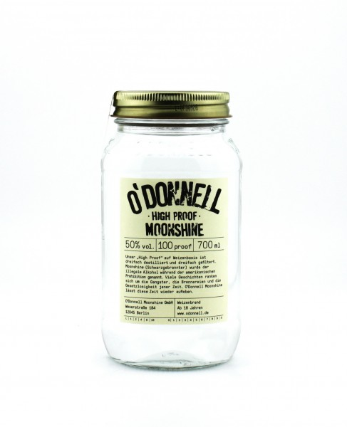 O'Donnell Moonshine High Proof 50% 0,7L