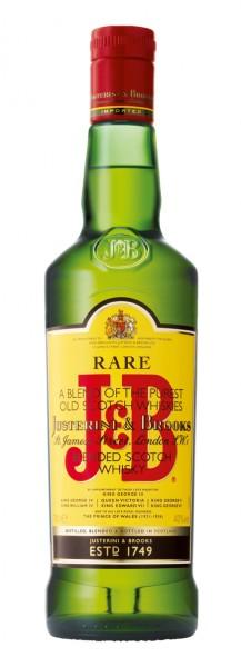 J&B Rare Blended Scotch Whisky 40 % Vol. / 0,7 Liter.