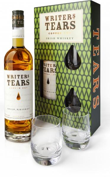 Writer's Tears Geschenkset mit 2 Tumbler Gläsern