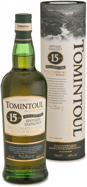 Tomintoul 15 Jahre Peaty Tang 40% 0,7 L