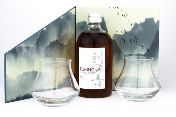 Tokinoka Blended Whisky 40% 0,5L in Geschenkpackung + 2 Gläser