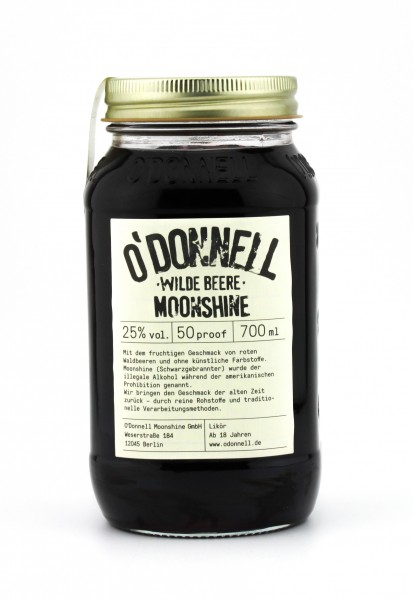 O'Donnell Moonshine Wilde Beere Likör 20% 0,7L