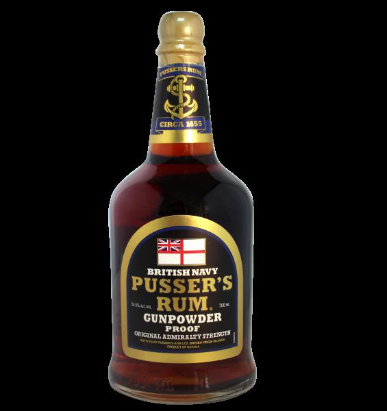 Pussers British Navy Rum Black Label Gunpowder Proof 54,5% 0,7 L