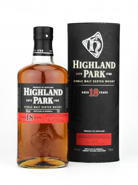 Highland Park 18 Jahre Single Malt Whisky 43% 0,7L alte Abfüllung